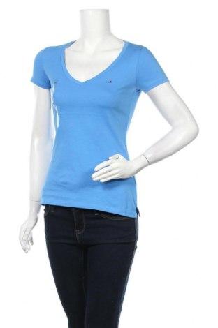 Γυναικείο t-shirt Tommy Hilfiger, Μέγεθος XS, Χρώμα Μπλέ, Βαμβάκι, Τιμή 34,02€