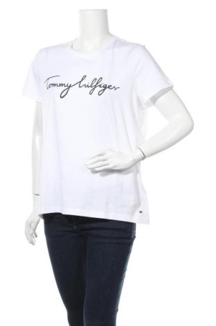 Γυναικείο t-shirt Tommy Hilfiger, Μέγεθος XL, Χρώμα Λευκό, Βαμβάκι, Τιμή 27,83€
