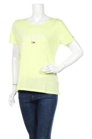 Γυναικείο t-shirt Tommy Hilfiger, Μέγεθος XL, Χρώμα Κίτρινο, 60% βαμβάκι, 40% πολυεστέρας, Τιμή 34,41€