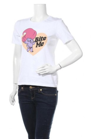 Дамска тениска Trolls, Размер S, Цвят Бял, Памук, Цена 13,78лв.