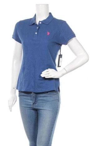 Γυναικείο t-shirt U.S. Polo Assn., Μέγεθος L, Χρώμα Μπλέ, Βαμβάκι, Τιμή 45,59€