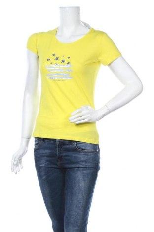 Дамска тениска U.S. Polo Assn., Размер XS, Цвят Жълт, Памук, Цена 47,17лв.