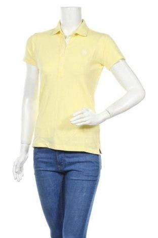 Γυναικείο t-shirt U.S. Polo Assn., Μέγεθος S, Χρώμα Κίτρινο, 95% βαμβάκι, 5% ελαστάνη, Τιμή 16,03€