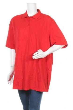 Γυναικείο t-shirt Ulla Popken, Μέγεθος 3XL, Χρώμα Κόκκινο, Βαμβάκι, Τιμή 6,07€