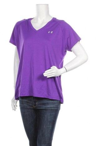 Дамска тениска Under Armour, Размер XL, Цвят Лилав, 100% полиестер, Цена 20,16лв.