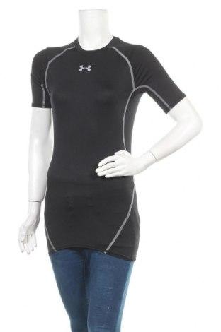 Дамска тениска Under Armour, Размер S, Цвят Черен, 93% полиестер, 7% еластан, Цена 51,75лв.