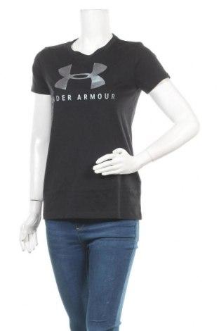 Дамска тениска Under Armour, Размер XS, Цвят Черен, 60% памук, 40% полиестер, Цена 51,75лв.