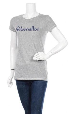 Γυναικείο t-shirt United Colors Of Benetton, Μέγεθος L, Χρώμα Γκρί, 50% βαμβάκι, 50% πολυεστέρας, Τιμή 10,39€