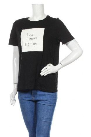 Дамска тениска Vero Moda, Размер M, Цвят Черен, Памук, Цена 16,96лв.