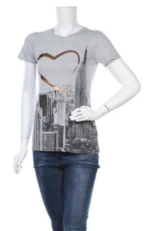 Γυναικείο t-shirt Woman By Tchibo, Μέγεθος XS, Χρώμα Γκρί, 50% βαμβάκι, 50% πολυεστέρας, Τιμή 11,04€