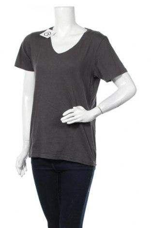 Γυναικείο t-shirt Yes Or No, Μέγεθος M, Χρώμα Γκρί, Βαμβάκι, Τιμή 11,04€