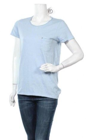 Γυναικείο t-shirt Yes Or No, Μέγεθος S, Χρώμα Μπλέ, Βαμβάκι, Τιμή 8,31€