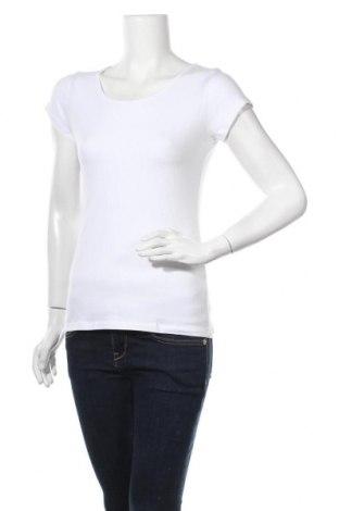 Γυναικείο t-shirt Yes Or No, Μέγεθος M, Χρώμα Λευκό, 95% βαμβάκι, 5% ελαστάνη, Τιμή 9,35€