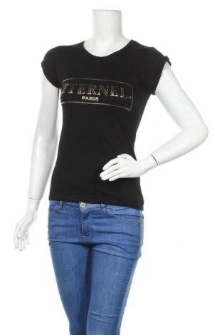 Дамска тениска Zebra, Размер XS, Цвят Черен, Памук, Цена 14,28лв.