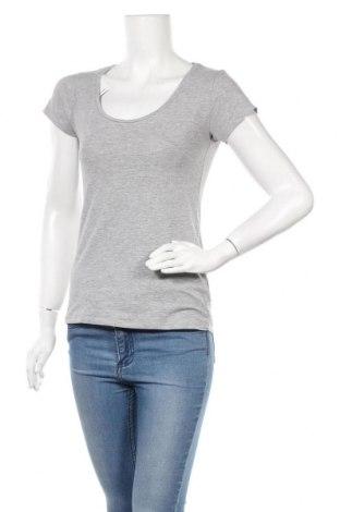 Дамска тениска Zebra, Размер M, Цвят Сив, 85% памук, 10% вискоза, 5% еластан, Цена 17,96лв.