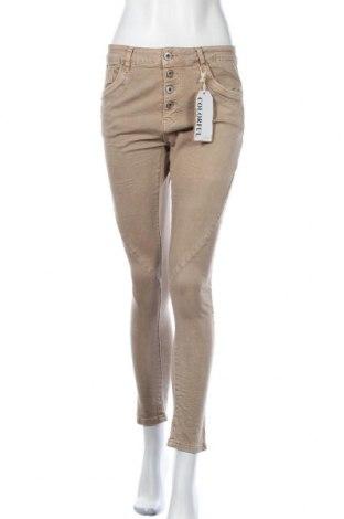 Дамски дънки, Размер S, Цвят Кафяв, 98% памук, 2% еластан, Цена 14,49лв.