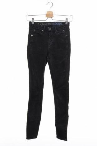Дамски дънки Calvin Klein Jeans, Размер XS, Цвят Черен, 92% памук, 6% полиестер, 2% еластан, Цена 56,70лв.