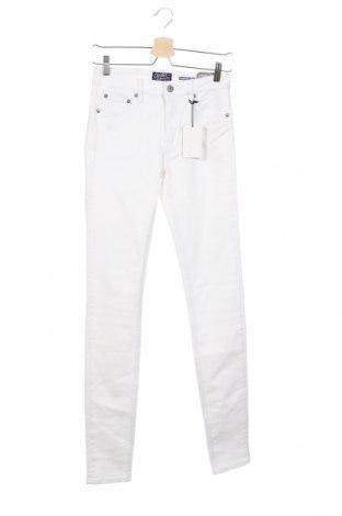 Дамски дънки Crocker, Размер S, Цвят Бял, 98% памук, 2% еластан, Цена 28,56лв.