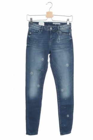 Дамски дънки Edc By Esprit, Размер XS, Цвят Син, 96% памук, 4% еластан, Цена 53,40лв.