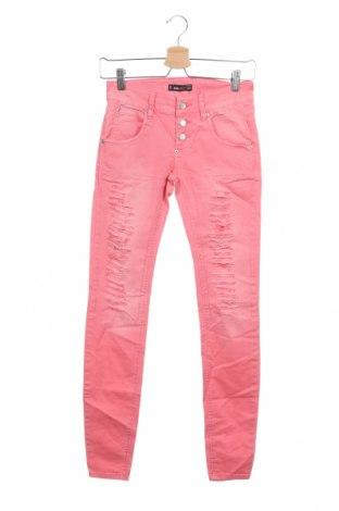 Дамски дънки Fb Sister, Размер XS, Цвят Розов, Цена 24,94лв.