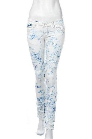 Дамски дънки, Размер M, Цвят Бял, 70% памук, 29% полиестер, 1% еластан, Цена 22,94лв.