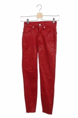 Γυναικείο Τζίν Good American, Μέγεθος XS, Χρώμα Κόκκινο, 91% βαμβάκι, 9% ελαστάνη, Τιμή 20,49€