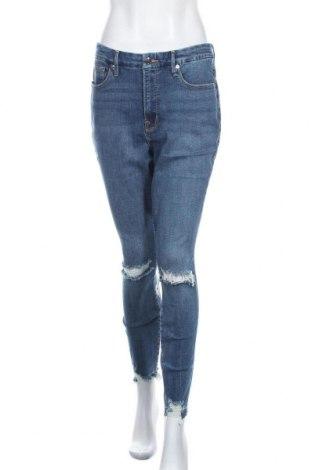 Γυναικείο Τζίν Good American, Μέγεθος L, Χρώμα Μπλέ, 98% βαμβάκι, 2% ελαστάνη, Τιμή 30,49€