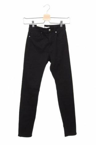 Дамски дънки H&M, Размер XXS, Цвят Черен, 98% памук, 2% еластан, Цена 9,45лв.