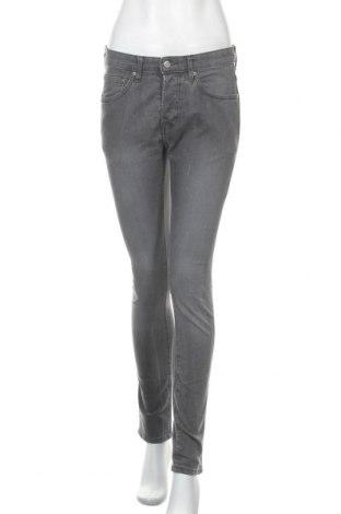Дамски дънки H&M, Размер M, Цвят Сив, 80% памук, 19% полиестер, 1% еластан, Цена 22,05лв.