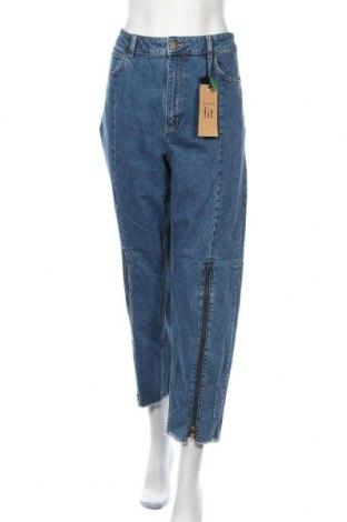 Γυναικείο Τζίν Lindex, Μέγεθος XL, Χρώμα Μπλέ, 98% βαμβάκι, 2% ελαστάνη, Τιμή 38,32€