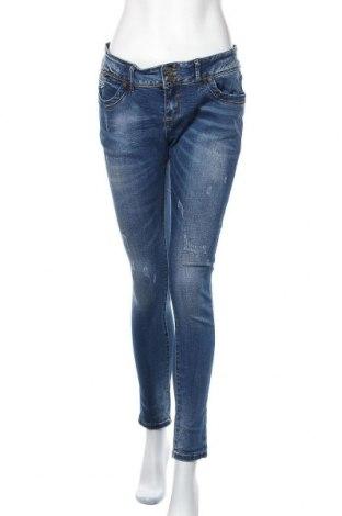 Дамски дънки M.Sara, Размер L, Цвят Син, 95% памук, 5% еластан, Цена 23,94лв.