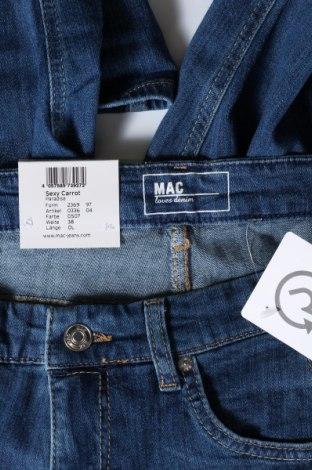 Дамски дънки Mac, Размер L, Цвят Син, 98% памук, 2% еластан, Цена 72,00лв.