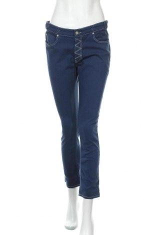 Дамски дънки Mih Jeans, Размер L, Цвят Син, 98% памук, 2% еластан, Цена 47,60лв.
