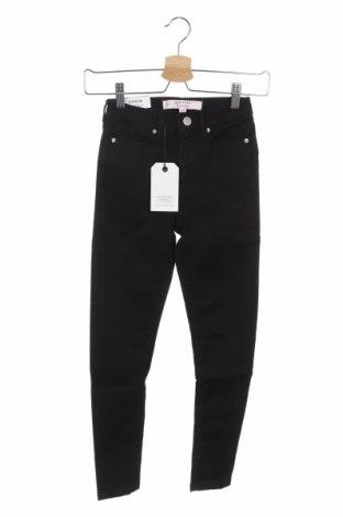 Дамски дънки Miss Selfridge, Размер XXS, Цвят Черен, 90% памук, 8% полиестер, 2% еластан, Цена 27,60лв.
