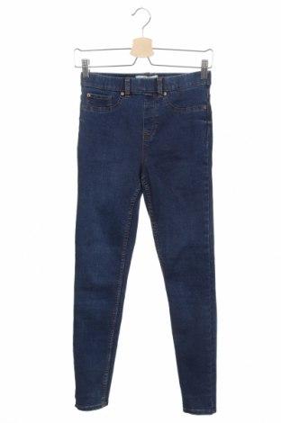 Дамски дънки New Look, Размер XS, Цвят Син, 71% памук, 26% полиестер, 2% еластан, 1% вискоза, Цена 20,16лв.