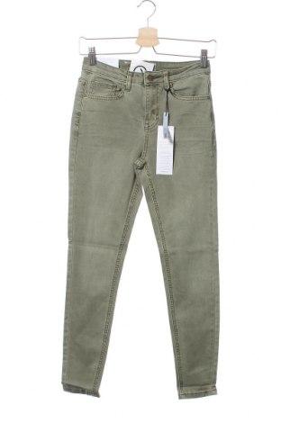 Дамски дънки New Look, Размер S, Цвят Зелен, 79% памук, 19% лиосел, 2% еластан, Цена 31,27лв.