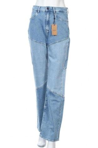 Дамски дънки Pepe Jeans, Размер M, Цвят Син, 99% памук, 1% еластан, Цена 64,22лв.