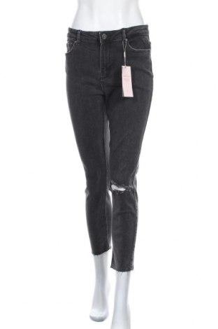 Γυναικείο Τζίν Pieces, Μέγεθος XL, Χρώμα Γκρί, 51% βαμβάκι, 42% βαμβάκι, 5% πολυεστέρας, 2% ελαστάνη, Τιμή 21,83€