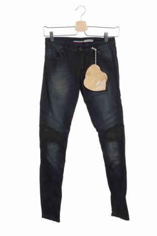 Дамски дънки Please, Размер XS, Цвят Син, 98% памук, 2% еластан, Цена 126,75лв.