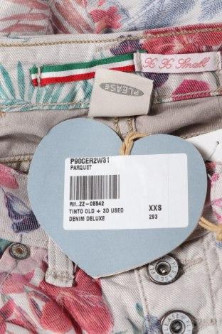 Дамски дънки Please, Размер XXS, Цвят Многоцветен, 75% памук, 22% полиестер, 3% еластан, Цена 37,18лв.