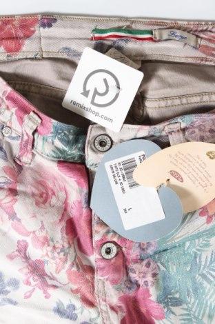 Дамски дънки Please, Размер L, Цвят Многоцветен, 75% памук, 22% полиестер, 3% еластан, Цена 37,18лв.