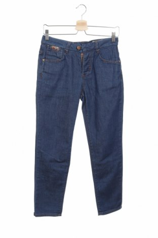 Дамски дънки Pull&Bear, Размер XS, Цвят Син, Цена 21,76лв.