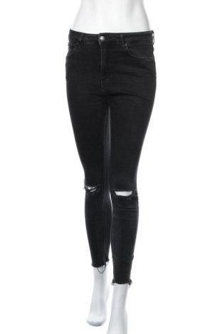 Дамски дънки Zara, Размер M, Цвят Черен, Цена 32,92лв.