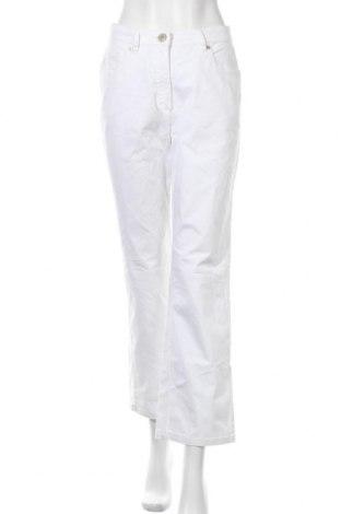 Дамски дънки Zerres, Размер M, Цвят Бял, 98% памук, 2% еластан, Цена 17,64лв.