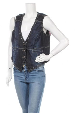 Дамски елек My Style, Размер XL, Цвят Син, 98% памук, 2% еластан, Цена 15,70лв.