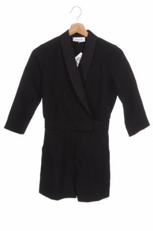 Дамски гащеризон Closet London, Размер XS, Цвят Черен, 92% полиестер, 8% еластан, Цена 59,25лв.