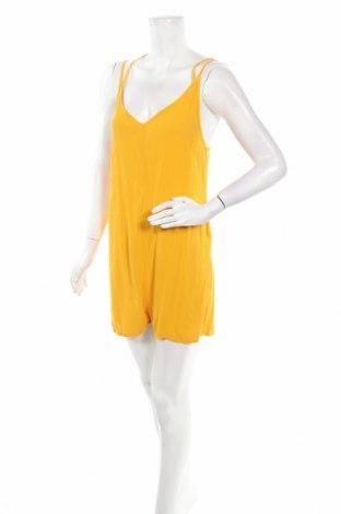 Дамски гащеризон H&M, Размер M, Цвят Жълт, Вискоза, Цена 23,04лв.