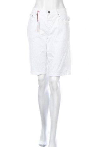 Дамски къс панталон Anna Montana, Размер XL, Цвят Бял, 97% памук, 3% еластан, Цена 34,02лв.