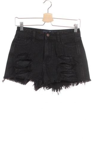 Γυναικείο κοντό παντελόνι Hollister, Μέγεθος XS, Χρώμα Μαύρο, Βαμβάκι, Τιμή 10,49€
