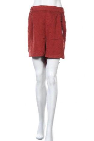 Γυναικείο κοντό παντελόνι Junarose, Μέγεθος 3XL, Χρώμα Κόκκινο, Lyocell, Τιμή 14,62€